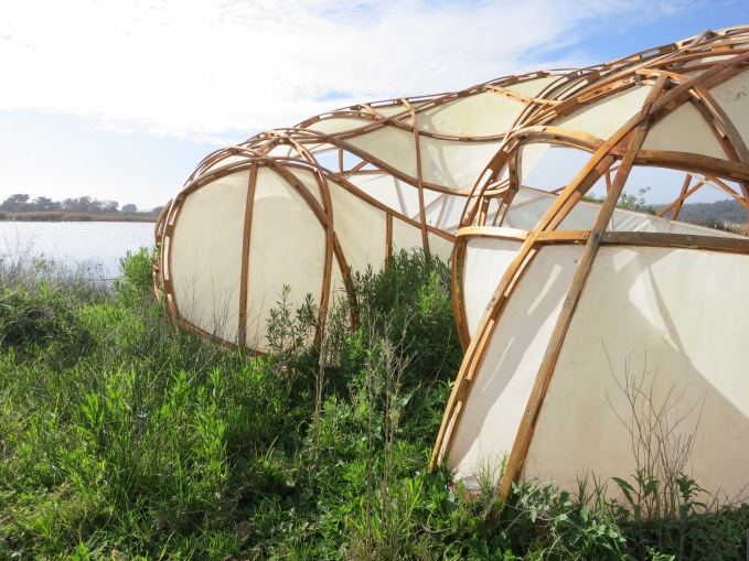 Bird-watching shelter, exterior, Open City, Ritoque, Chile