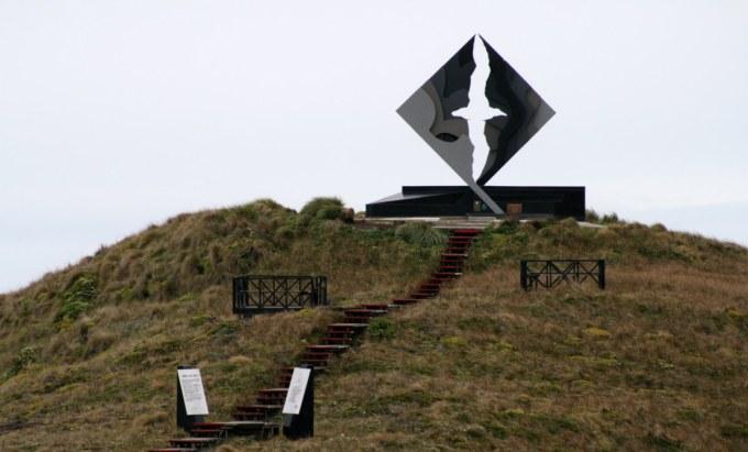 """From """"Monumento al """"Cabo de Hornos"""" del artista José Balcells, cumple 19 años"""" http://prensaantartica.wordpress.com/2011/12/05/monumento-al-cabo-de-hornos-del-artista-jose-balcells-cumple-19-anos/"""