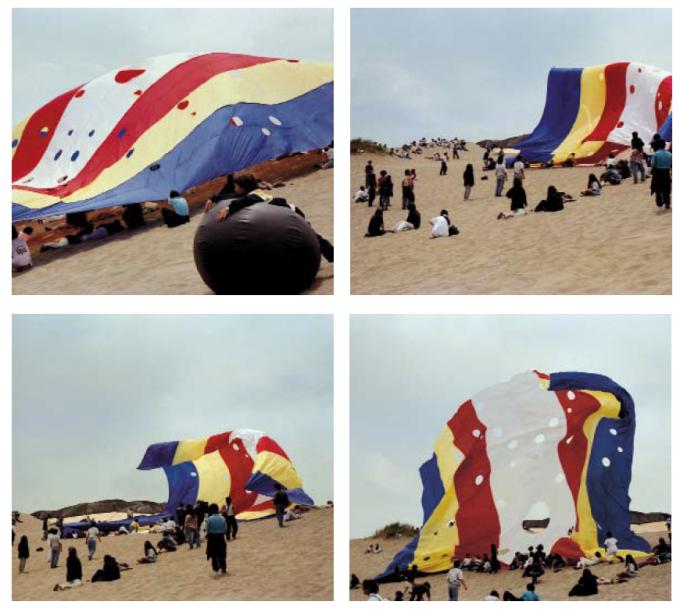 """Membrana Aerofuselada, 1992. Ciudad Abierta. Scanned from Manuel Casanueva's """"Libro de Torneos."""" Valparaíso, Chile: e[ad] Ediciones, 2009."""