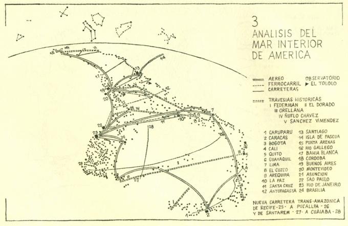 """""""Analisis del Mar Interior de America,"""" School of Valparaíso, Para un Punto de Vista Latinoamericana del Oceano Pacifico, 1971"""