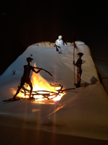 Sebastián Gordín, Downhill, 2003 (Polyester resin, fiberglass, bronze and lighting)
