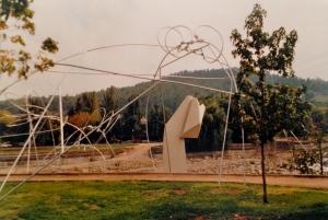 """Claudio Girola, """"Monumento Athenea"""" (1987), reinforced concrete and steel. Santiago, Chile."""