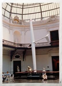 """1983, 10 Years of Object Design at the School of Valparaíso, Museo Nacional de Bellas Artes, Santiago, Chile. Scanned from Renán Alejandro Peralta Vásquez, """"Catálogo general 10 años de diseño de objetos"""" (Valparaíso: Universidad Católica de Valparaíso, 1984)."""
