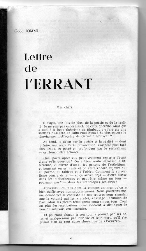 Ailleurs 1 (1963), 15.