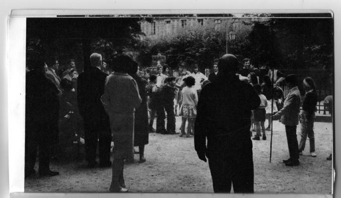Paris, Place des Vosges, June 1962. Printed in Ailleurs 1 (1963), 20.