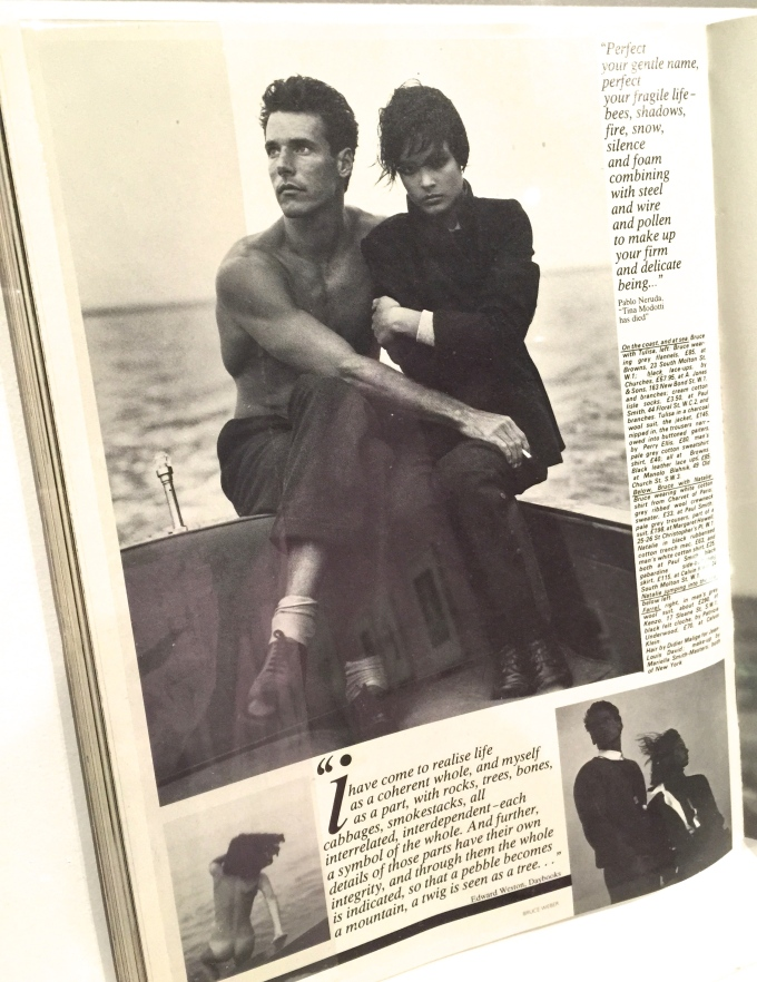 Detail from British Vogue, December 1982.