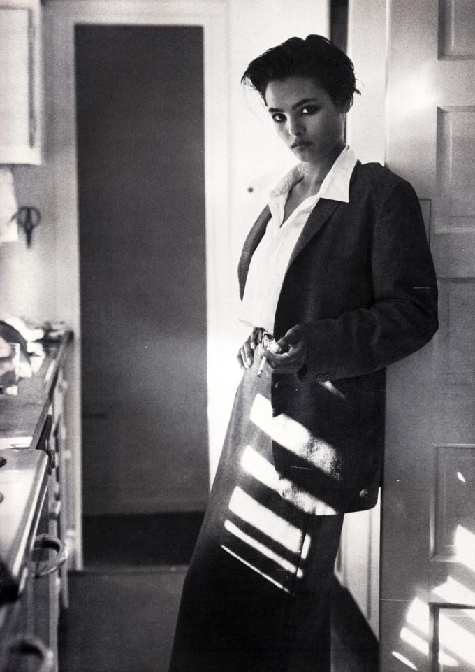 British Vogue, December 1982. Talisa Soto.
